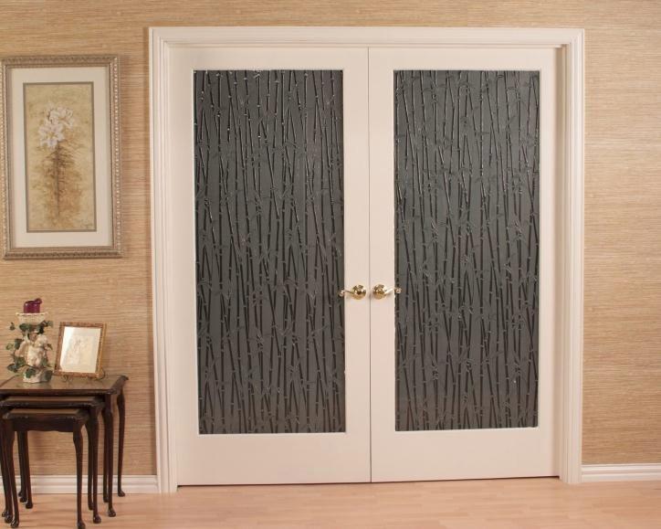Bamboo Glass Door Home Interior Doors