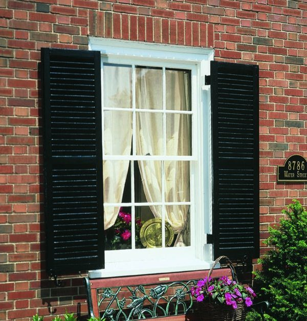 Exterior Wooden House Shutters