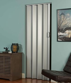Elite folding door in Silver