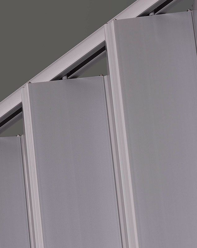 Elite folding door silver track detail