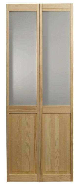 Frosted Glass Bifold Half Glass Door By Ltl Home Products