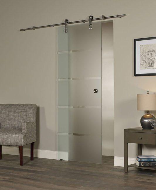 Glass Barn door - Contour Style