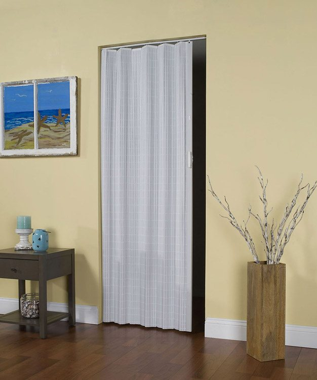 Spectrum doors spectrum storm doors by provia feature a for Accordion retractable screen doors