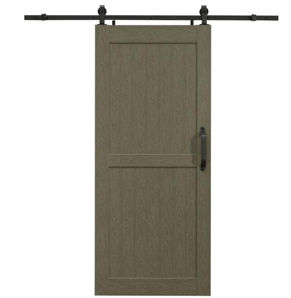 Montana PVC Barn Door - H Style - Heather Grey