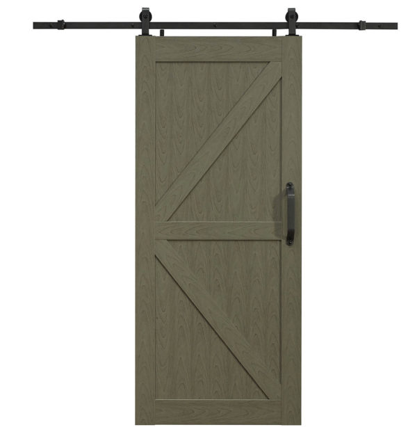 Montana PVC Barn Door - K Style - Heather Grey