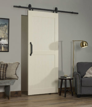 Montana PVC Barn Door - White Ash