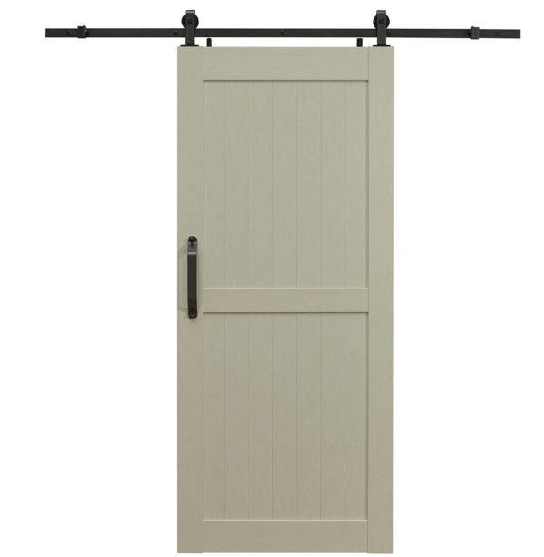 Montana PVC Barn Door - H Style - Ash White