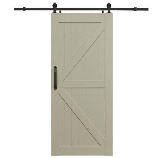 Montana PVC Barn Door - K Style - Ash White