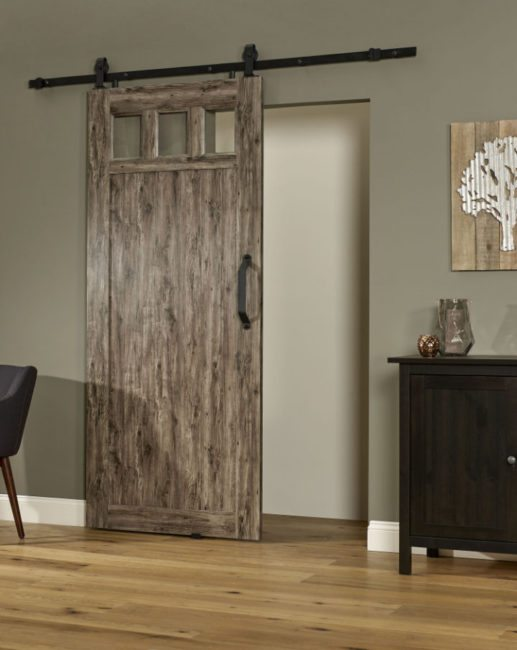 PVC Barn Door G 36 Inch - Weathered Gray