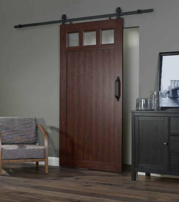 "PVC Barn Door G 42"" - Cherry"