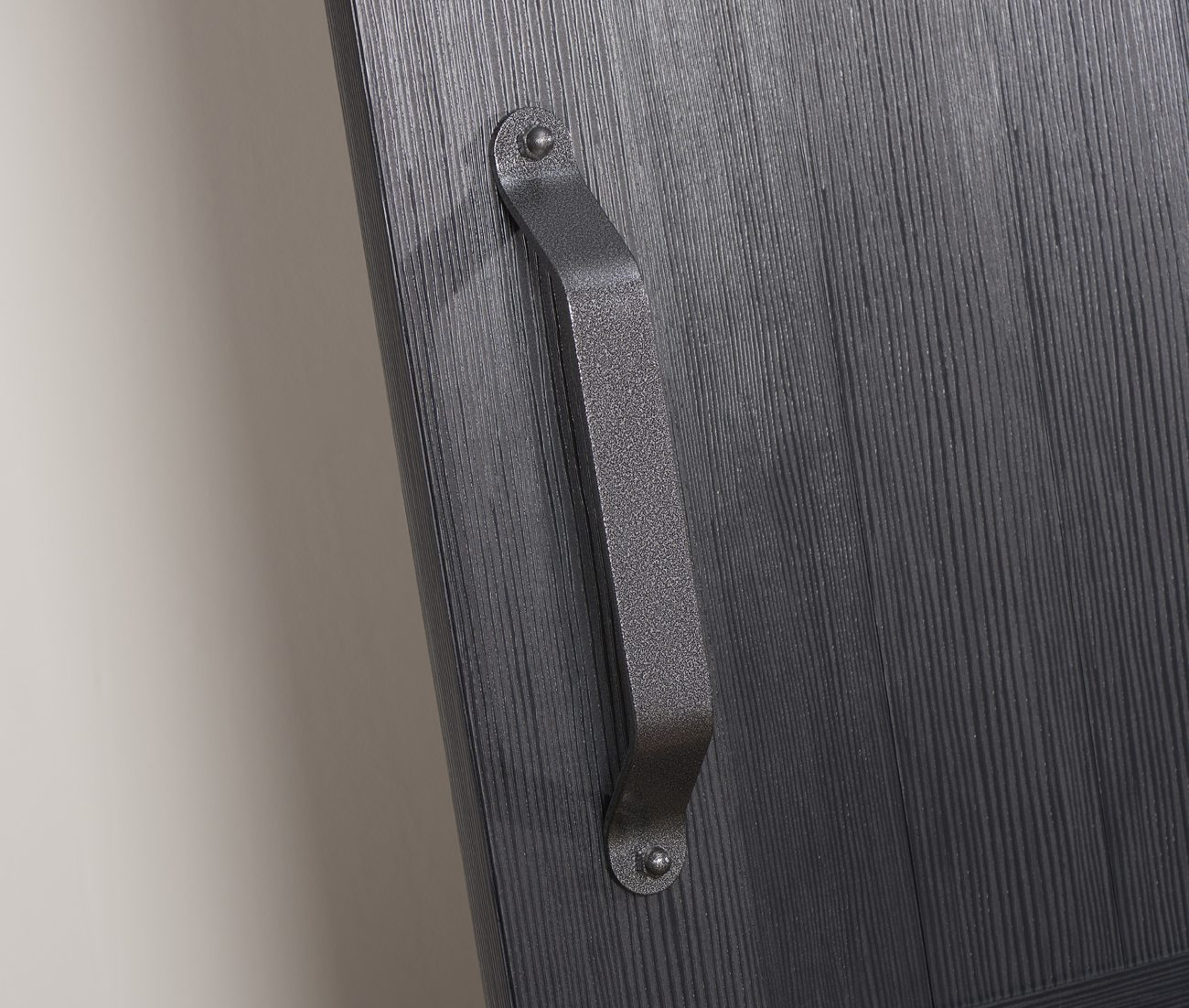 Millbrooke PVC Barn Door - Black - Handle Detail