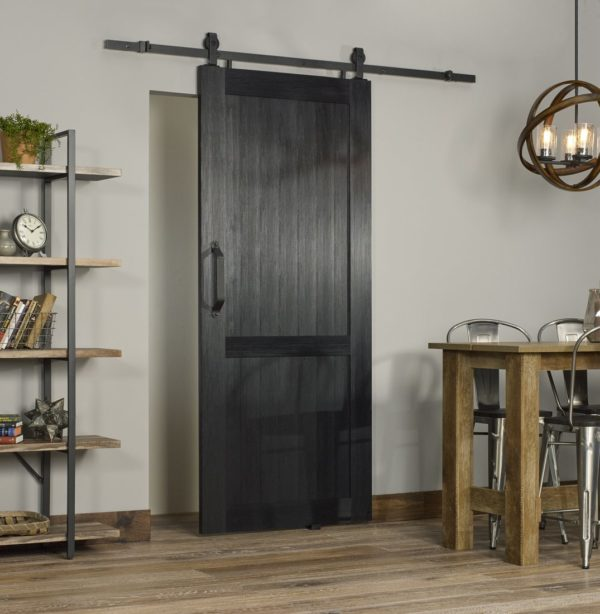 Millbrooke PVC Barn Door - Black - Room View