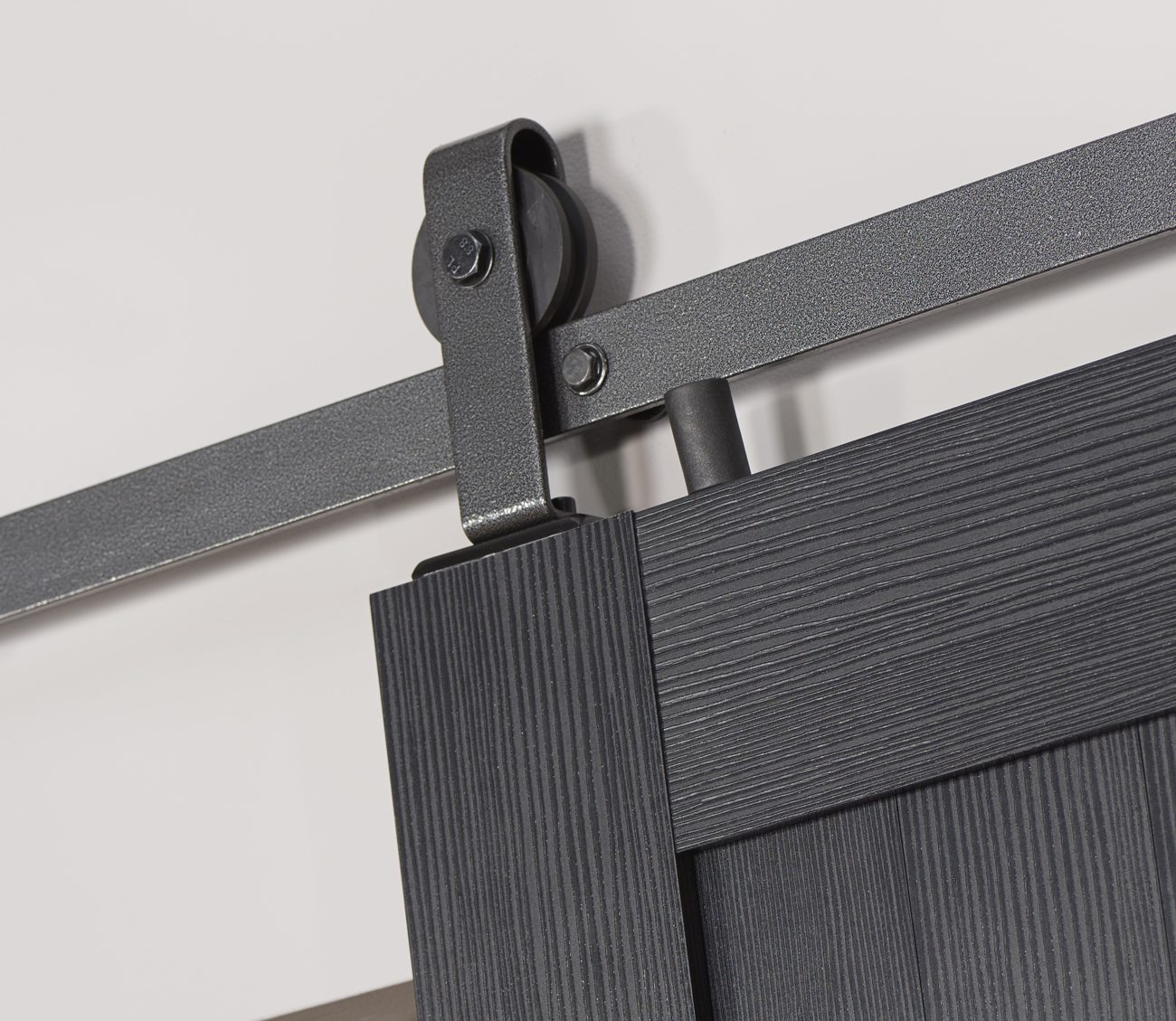 Millbrooke PVC Barn Door - Black - Track Detail