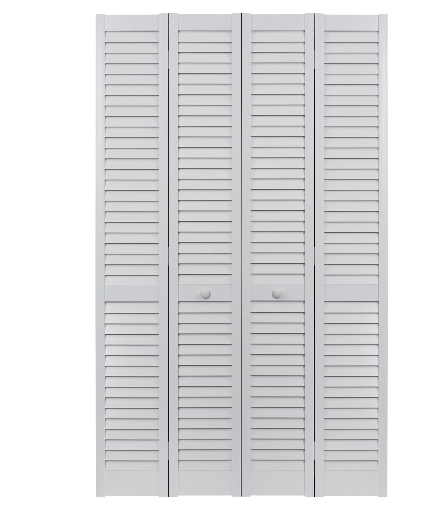 PVC bifold full louver double door