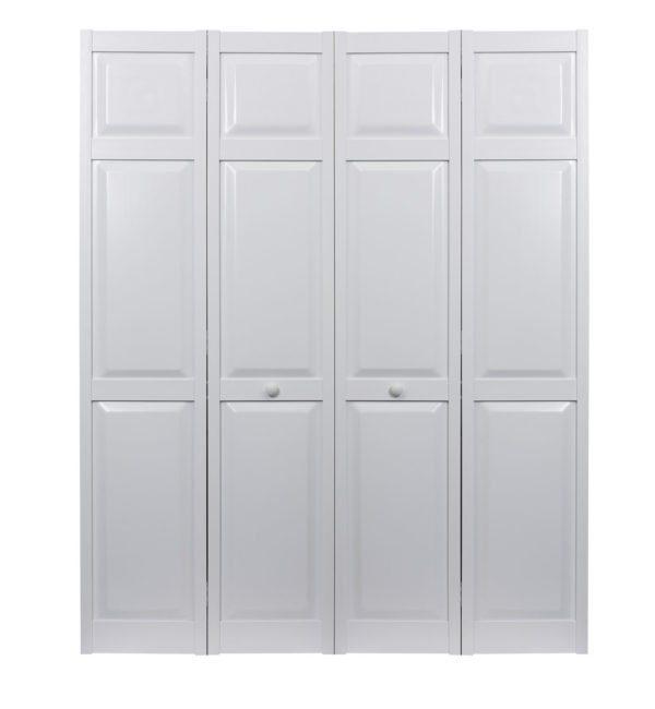 PVC bifold raised panel double door