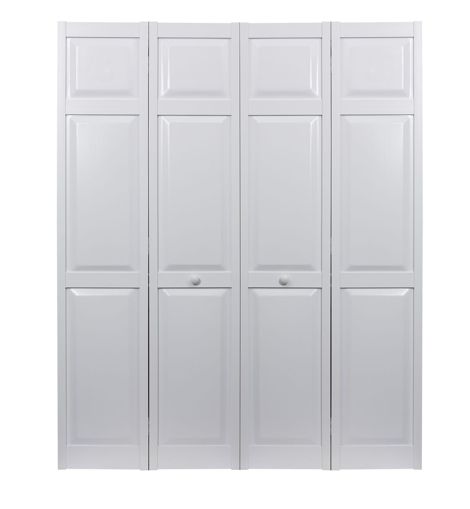 PVC bifold raised panel double door