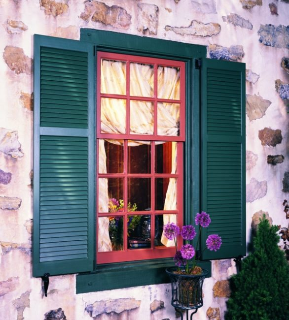 Wooden Exterior House Shutters